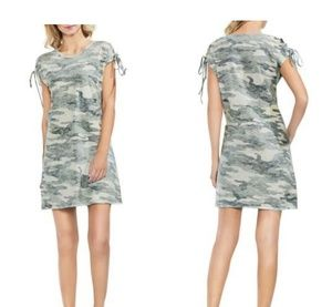 Vince Camuto Inside out Camo T shirt dress Small